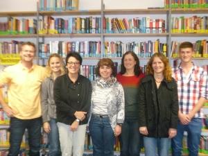 J. Diel (Bibliotheksleitung), K. Stingl, A. Mungenast, S. Herrmann, W. Kosikors, T. Tschanter, M. Ostler