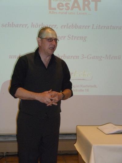 Rainer Streng rezitiert Gedichte von Erhardt, Ringelnatz, Tucholsky und Heine in sehr witziger Weise