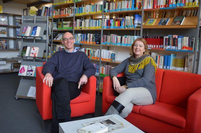 Herz und Markmann, Schulbibliotheksbeaufragte am Steller-Gymnasium
